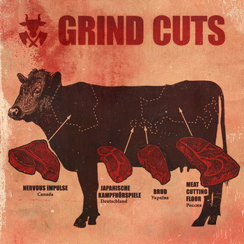 Nervous Impulse / Meat Cutting Floor / Japanische Kampfh?rspiele / Brud - Grind Cuts. Split CD